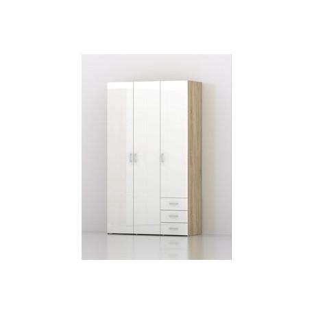 armadio 3 ante+3 cassetti Space 116x49x200h