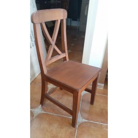 sedia legno massello