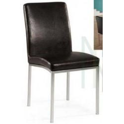 sedia Cristal pvc nero cod.10125