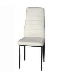 sedia acciaio Trendy rivest. pelle nera/sabbia