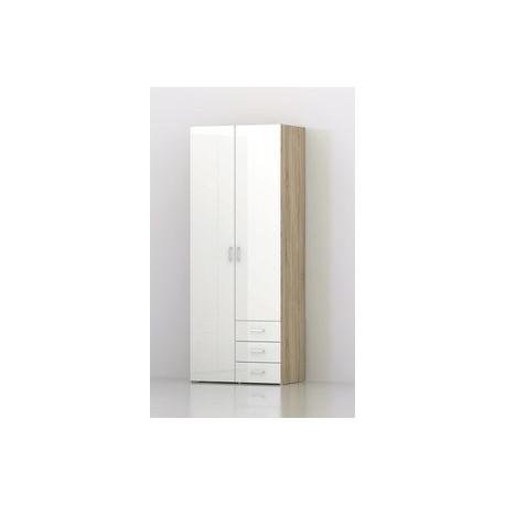 armadio 2 ante+2 cassetti Space 78x49x200h